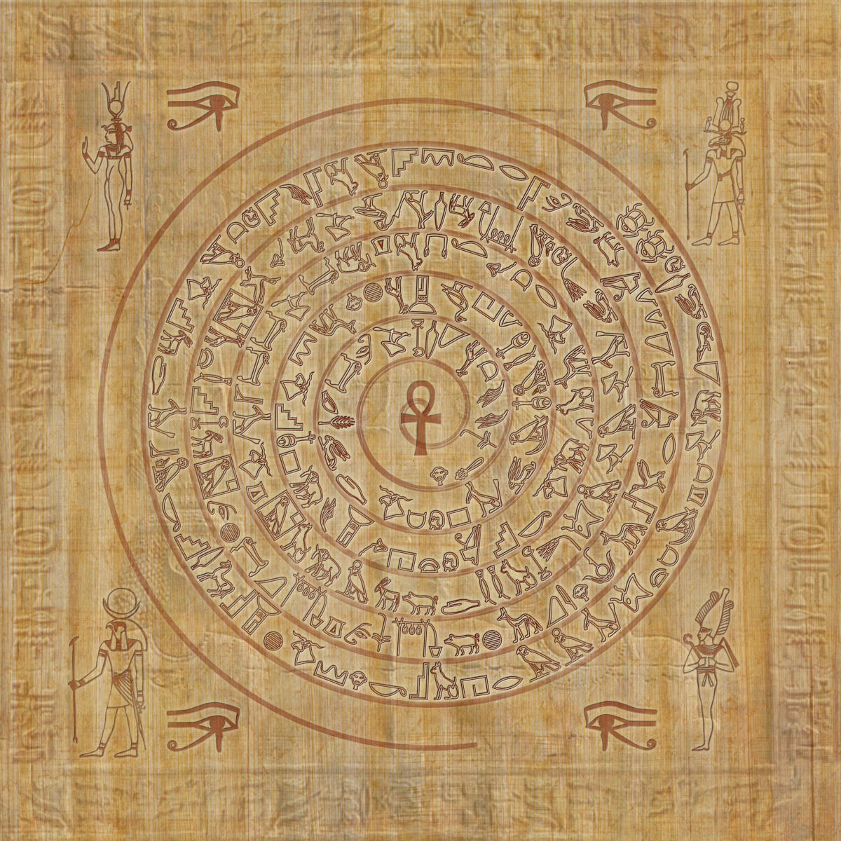 Cosmic spiral of Egyptian hieroglyphs