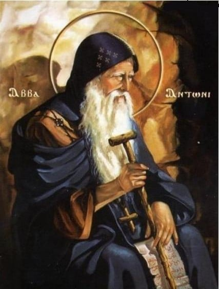 Saint Anthony of Egypt, religious hermit, considered the founder and father of organized Christian monasticism.